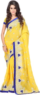 Linenplus Embriodered Bollywood Georgette Sari