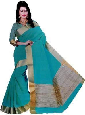 freshboss Solid Coimbatore Silk Cotton Blend Sari