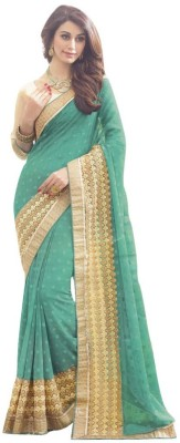 LAL & LAL Embriodered Fashion Georgette Sari