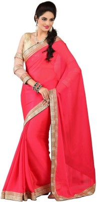 RG DESIGNERS Embriodered Fashion Crepe Sari