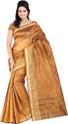 Simran Fashion Printed Mysore Handloom Silk Cotton Blend Sari