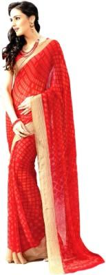 Isha Collection Graphic Print Fashion Synthetic Georgette Sari