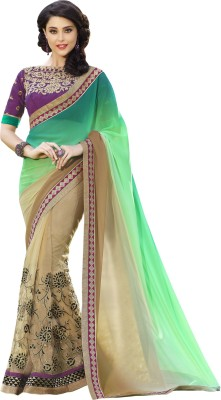 Jambudi Creation Embriodered Fashion Chiffon, Georgette Sari