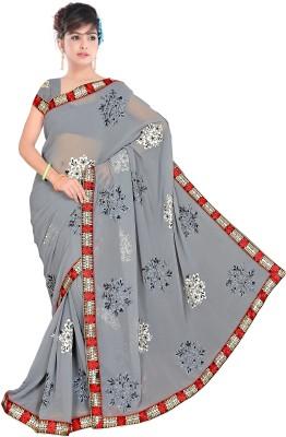 Swami Syntex Self Design Bollywood Chiffon Sari