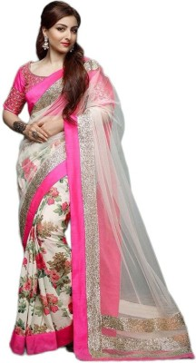 Festive Self Design Bollywood Georgette, Net Sari