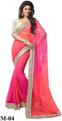 Zombom Embriodered Daily Wear Georgette Sari
