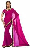Elevate Women Solid Fashion Georgette Sa...
