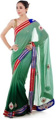 Bazzzar Self Design Fashion Chiffon Sari