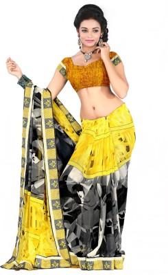 MannMohh Printed, Embriodered Daily Wear Georgette Sari