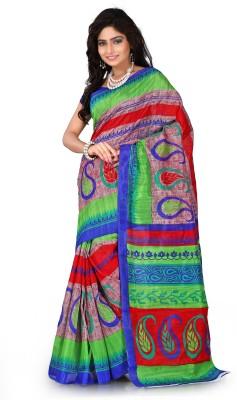 V-Karan Printed Bhagalpuri Silk Sari