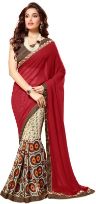 KL COLLECTION Geometric Print Fashion Georgette Sari