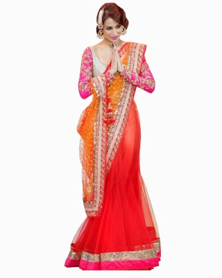 Mert India Embriodered Fashion Modal Sari
