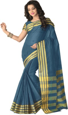 Design Villa Printed Fashion Silk Cotton Blend Sari