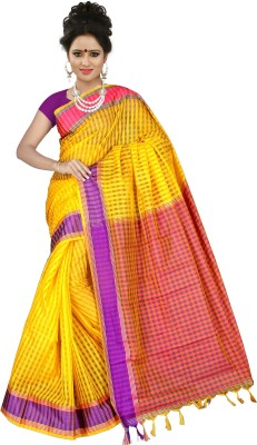 Mohta Fashions Self Design Fashion Silk Cotton Blend Sari