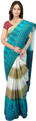 SRK GROUPS Printed Bhagalpuri Cotton Sari