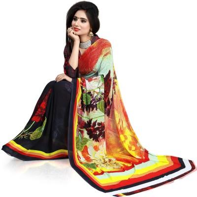 Karishma Prints Floral Print Bollywood Art Silk Sari