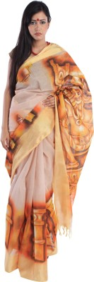 Kiara Crafts Solid Daily Wear Handloom Cotton Sari