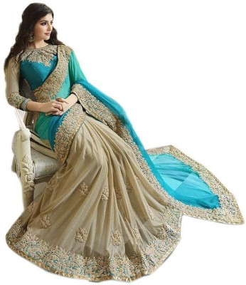 TrynGet Embriodered Bollywood Georgette Sari