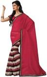 Vedhas Solid Fashion Art Silk Saree (Red...