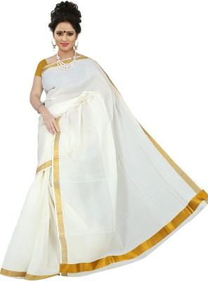 BrindavanSilks Plain Fashion Cotton Sari