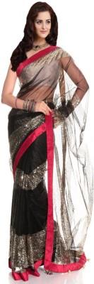 JVSN CREATION Self Design Fashion Net Sari