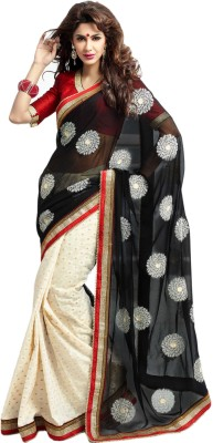 Fashion On Sky Self Design Bhagalpuri Georgette Sari