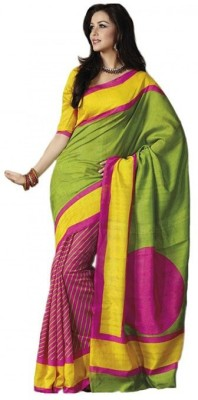 Laxmi Fashion Printed Bhagalpuri Silk Sari