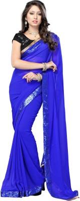 yanatextile Embriodered Fashion Georgette Sari