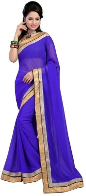 ASN Plain Bollywood Chiffon Sari