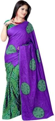 Ganes Printed Bandhani Georgette Sari