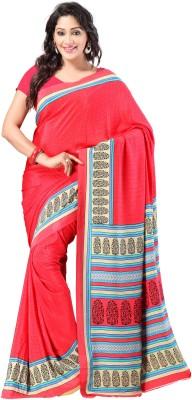 Goodfeel Floral Print Fashion Silk Sari