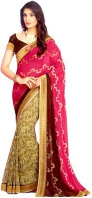 Vivacity Solid Bollywood Pure Georgette Sari