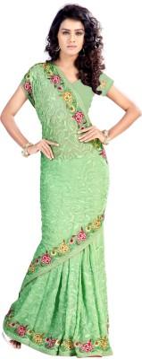 VedDeal Self Design Fashion Chiffon Sari