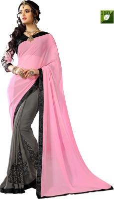 Rozdeal Self Design Fashion Georgette Sari