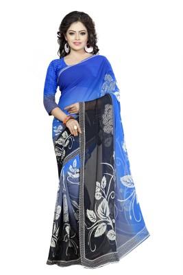EmporioDeals Printed Daily Wear Georgette Sari