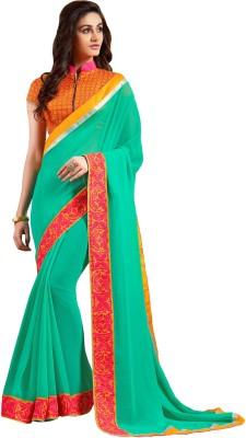 Styleworld Embriodered Fashion Georgette Sari