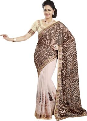 Vibes Self Design Fashion Georgette Sari