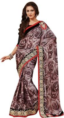 Pbs Prints Graphic Print Fashion Satin, Chiffon Sari