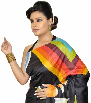 Dhaarona Style Boutique Geometric Print Fashion Handloom Pure Silk Sari