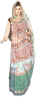 Sprint Textiler & Manufacturer Geometric Print Rajshahi Handloom Cotton Sari