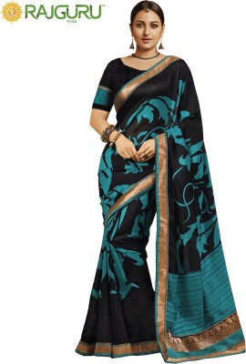 Rajguru Rise Floral Print Bollywood Silk Sari