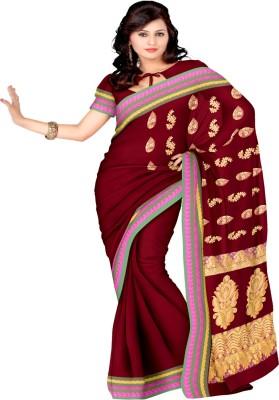 Pratami Self Design Chettinadu Handloom Silk Cotton Blend Sari