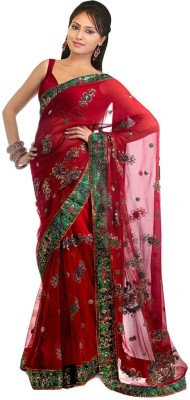 Rmg Embriodered Bollywood Handloom Net Sari