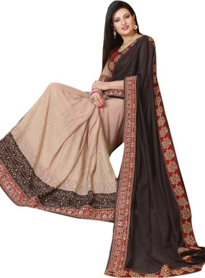 Lajo Printed Bollywood Shimmer Fabric, Chiffon Sari