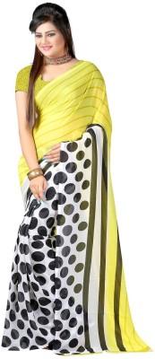 SaiArisha Geometric Print Fashion Georgette Sari