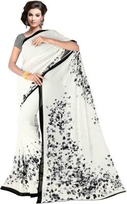 Nimi Fashion Floral Print Fashion Georgette Sari