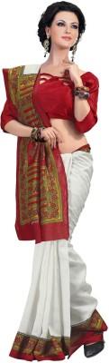 Rajesh Silk Mills Printed Fashion Silk Cotton Blend, Jacquard Sari