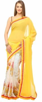 Pihu Fashion Floral Print Bollywood Handloom Chiffon Sari