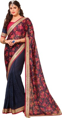 ethniccrush Embriodered Lehenga Saree Net Sari