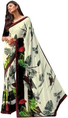 Siddhi Vinayak Floral Print Bollywood Pure Georgette Sari